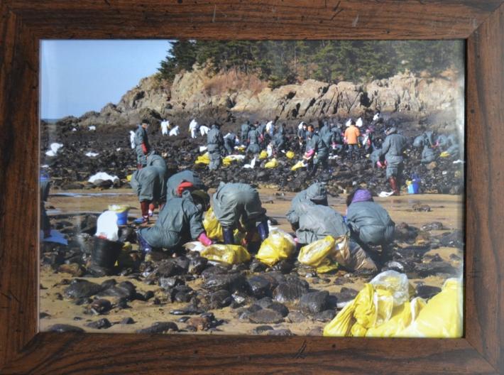 원유유출 피해복구 자원봉사활동 액자(3)