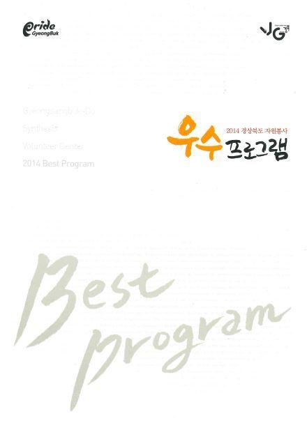 2014 경상북도 자원봉사 우수프로그램