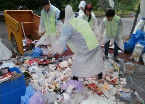 세월호 침몰 참사 관련 자원봉사활동 현장(진도실내체육관)