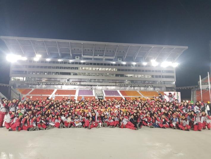 2018평창동계올림픽 자원봉사자 기증 사진 - 폐막식 자원봉사자들