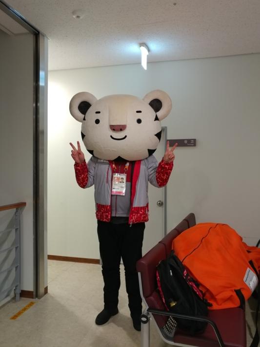 2018평창동계올림픽 및 패럴림픽 자원봉사자 기증 사진 - 반다비 인형탈