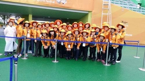 제95회 전국체육대회 자원봉사 활동(종합경기장)