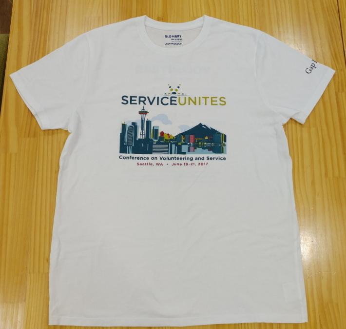 2017 전미 자원봉사 컨퍼런스 참가자 티셔츠(단체복)