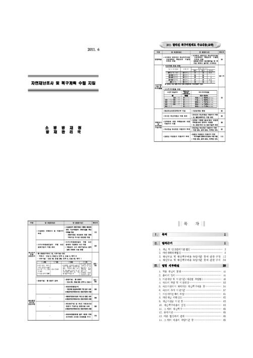 자연재난조사 및 복구계획 수립 지침