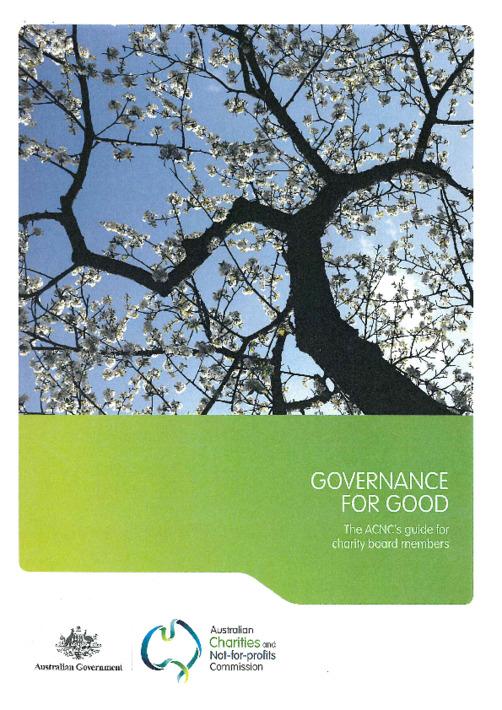 Governance for good