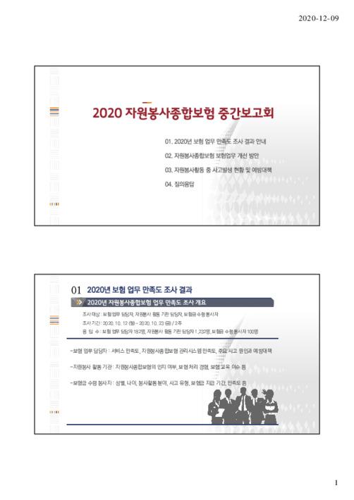 2020 자원봉사종합보험 중간보고회