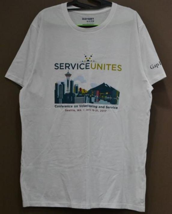 SERVICE UNITES 흰색 반팔티셔츠