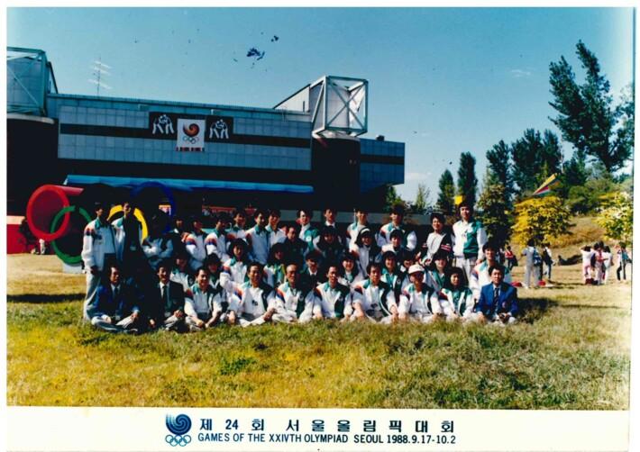 1988년 제24회 서울올림픽대회 자원봉사자 단체사진 (그린자켓 통역봉사)
