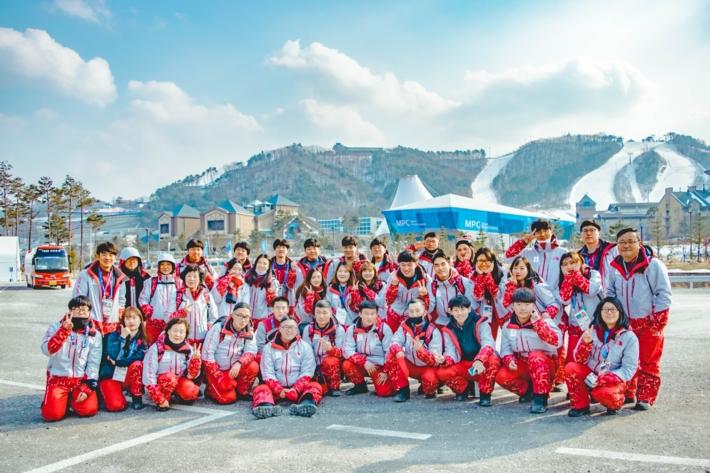2018평창동계올림픽 자원봉사자 기증 사진 - 올림픽슬라이딩센터 TRA자원봉사자 단체사진